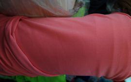 Vải thun mè hồng cam