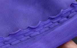 Vải thun lưới tím