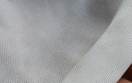 Vải thun lưới trắng
