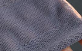 Vải thun lưới xám