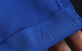 Vải thun mè xẹc 2 chiều màu xanh