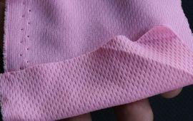 Vải thun mè xẹc 2 chiều màu hồng phấn