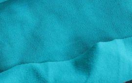Vải thun poly cào 4 chiều màu xanh ngọc