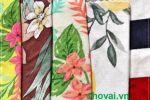 Vải cotton lụa 4 chiều - Họa tiết bông - 1.6 mét
