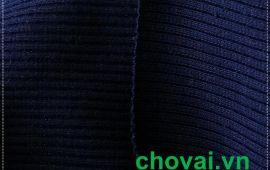 Vải bo gân 02 màu xanh đen