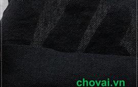 Vải đũi 01 (linen) màu đen