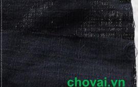 Vải đũi 02 (linen) màu đen