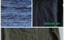 Vải cotton xược đủ màu sắc