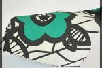 Vải kaki (KK00501) - Màu kem họa tiết bông to - Khổ 1.4/1.5 mét