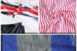 Vải poly (PL09002) - Họa tiết sọc - Khổ 1.5/1.6 mét