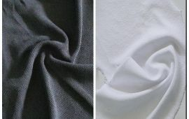 Vải chân cua (CC11201) - Màu trắng, xám đậm - Khổ 1.5/1.6 mét