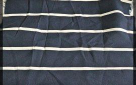 Vải cát (C11103) - Màu xanh đen sọc trắng - Khổ 1.5/1.6 mét