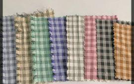 Vải kate thun (KT02506) - Nhiều màu sắc ca rô - Khổ 1.6 mét