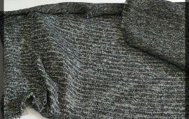 Vải len kim tuyến (L10804) - Màu xám - Khổ 1.5/1.6 mét