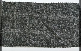 Vải bố ca rô (BCR10809) - Màu đen nổi chỉ trắng - Khổ 1.5/1.6 mét