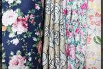 Vải thô hoa (TH11801) - Họa tiết bông nhiều màu sắc