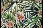 Vải chéo mỹ (M.CM11805) - Họa tiết hoa lá