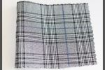 Vải bố ca rô (BCR02504) - Họa tiết sọc trắng đen - Khổ vải 1.6 mét