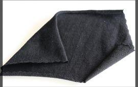 Vải cotton 4 chiều (CT09306) - Màu đen - Khổ 1.6 mét