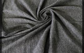Vải cotton 2 chiều (CT09313) - Màu xám đậm - Khổ 1.7 mét
