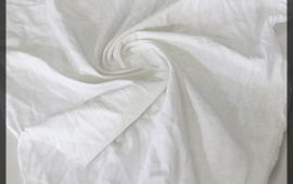 Vải cotton 2 chiều (CT09318) – Màu trắng – Khổ 1.7 mét