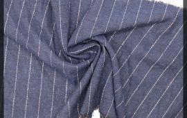 Vải kate sọc (KT11001) - Màu xanh đen - Khổ 1.6 mét