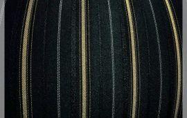 Vải tuýt xì (TX11803) - Màu đen kẻ vàng