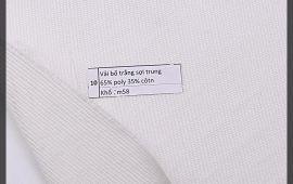 Vải bố (B12510) - Màu trắng - Khổ 1.58 mét
