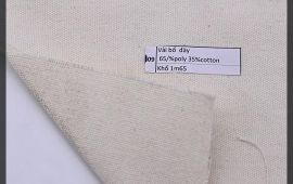 Vải bố (B12509) - Màu kem - Khổ 1.65 mét