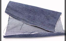 Vải jeans (J12401) - Màu xanh đen - Khổ 1.5 mét