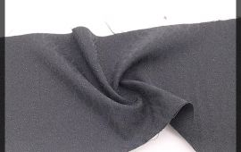 Vải giãn họa tiết (GHT09807) - Màu đen - Khổ 1.5 mét