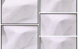 Vải kate thêu (KT13940) - Màu trắng - Khổ 1.4 mét