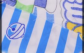 Vải tôn 2 da (T13302) - Màu trắng Doremon - Khổ 1.44 mét
