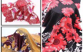 Vải thun lạnh họa tiết (TL14701) - Nhiều màu sắc - Khổ 1.6 mét