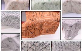 Vải kate họa tiết (KT13946) - Nhiều màu sắc - Khổ 1.2 mét