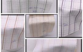 Vải kate sọc (KT13947) - Nhiều màu sắc - Khổ 1.2 mét
