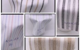 Vải kate sọc (KT13948) - Nhiều màu sắc - Khổ 1.2 mét