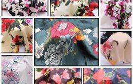 Vải lụa bông (L14901) - Nhiều màu sắc