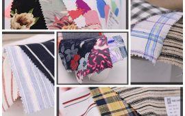 Vải Linen họa tiết (LN14801) - Nhiều màu sắc