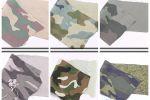 Vải kaki rằn ri (KK15001) - Nhiều màu sắc - Khổ 1.3 đến 1.5 mét