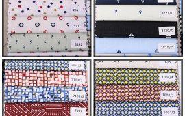 Vải cotton họa tiết (CT10605) - Nhiều màu sắc - Khổ 1.5 mét
