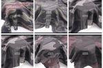 Vải đũi rằn ri, camo (CM16501) - Màu đen, xám, rêu