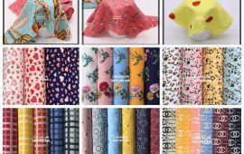 Vải lụa bông/họa tiết (L16903) - Nhiều màu sắc - Khổ 1.45/1.5 mét