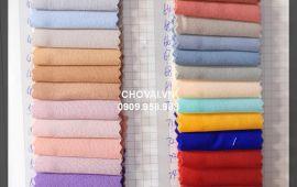 Vải đũi không nhăn (D16901) - Nhiều màu sắc - Khổ 1.45/1.5 mét