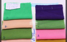 Vải cát thun (CT19604) - nhiều màu sắc - khổ tầm 1.5/1.6 mét