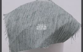Vải Linen Stock (LN19401) - màu đen, rêu - khổ tầm 1.5 mét