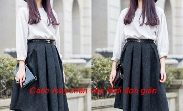 Hướng dẫn may chân váy Midi